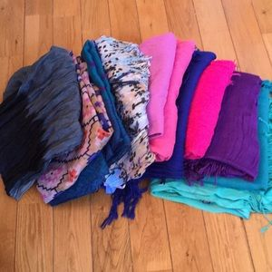 Bundle of Pashminas and Scarves
